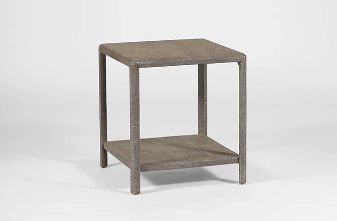 Transitional Shagreen Side Table