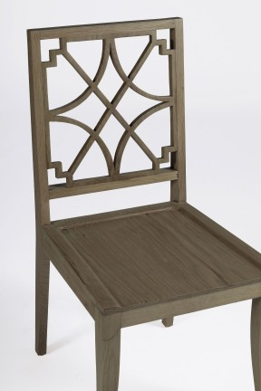Unique Transitional Wood Dining Chair Lydia Chair Detail