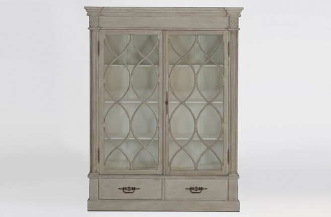 Grace farmhouse style china cabinet - Gabby