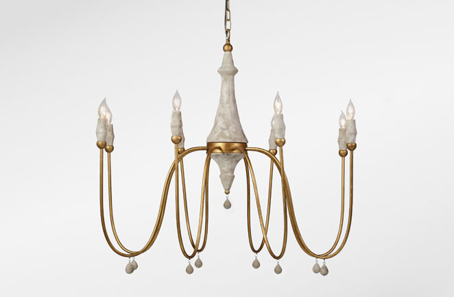 Large Transitional Chandelier Clay Chandelier