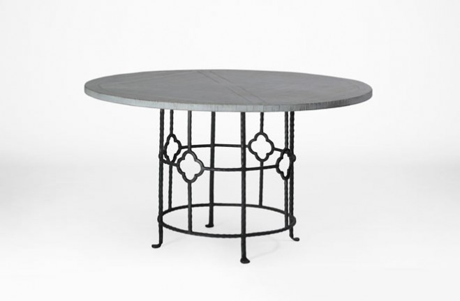 wood and iron round dining table king table gabby. Black Bedroom Furniture Sets. Home Design Ideas