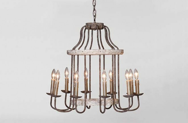 Adele Chandelier - Antique Style Chandelier Rustic Lighting Adele Chandelier