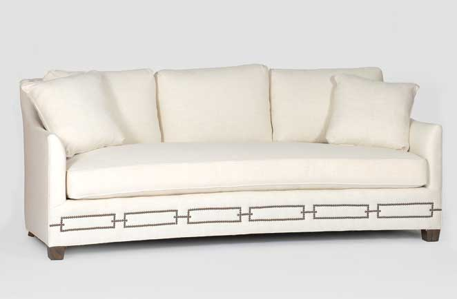 Transitional Curved Front Sofa