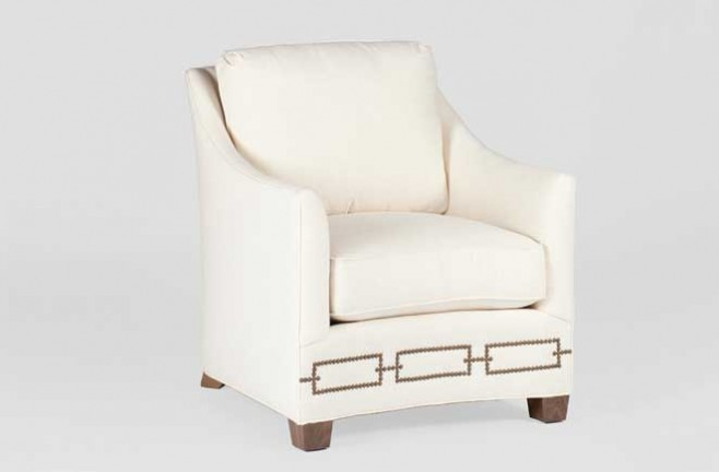 Transitional Curved Front Chair