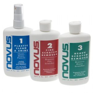 Novus Fine Scratch Remover for cleaning acrylic lucite furniture