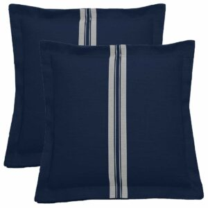 Navy With Navy Backing And Natural Double Flange