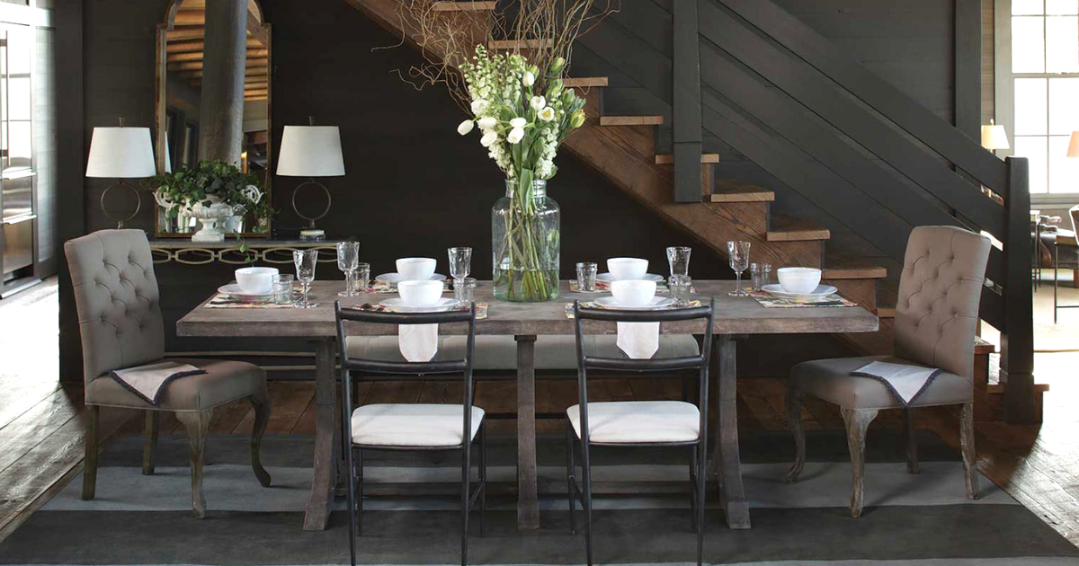 Dining Room Decorating Ideas Mix And Match Table And Chairs